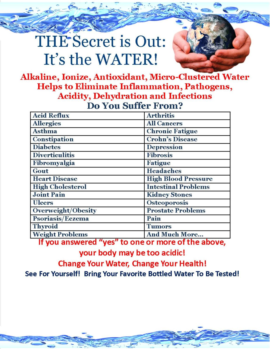 Free Kangen Water Demo Sat. Jan. 18th. 2014 4pm - 6pm